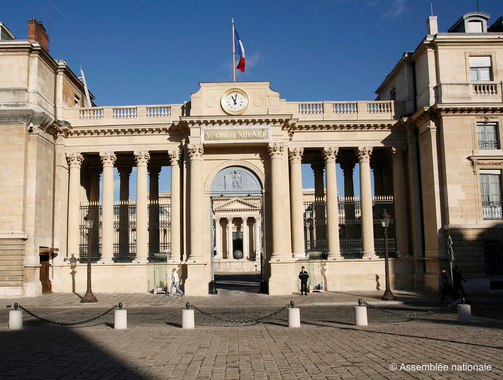 Porche d'entrée de l'Assemblée nationale